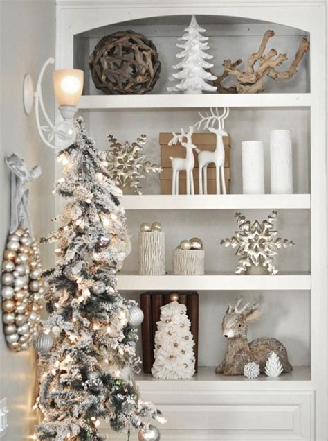 gold and silver home decor 44 refined gold and white christmas d 233 cor ideas digsdigs