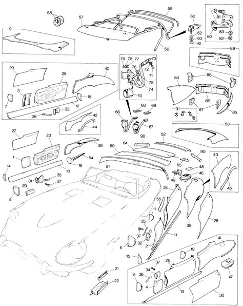 Parts for Jaguar E-Type Serie I and II (6 cylinder
