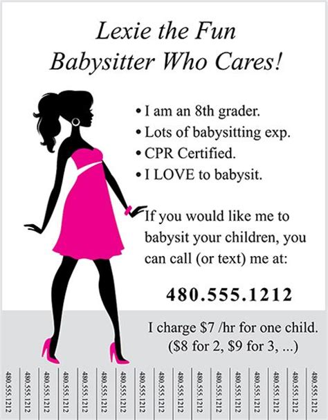 Babysitting On Resume Example by Marketing How To A Flyer That Gets You Biz Baby