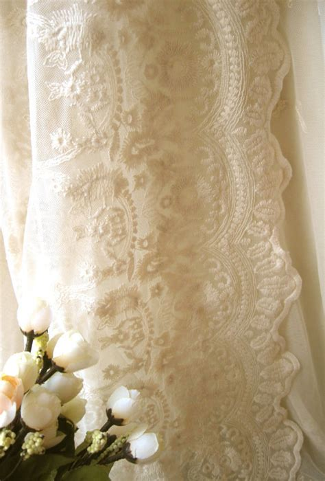 vintage lace curtains sale sale ivory bridal lace fabric retro embroidered lace chic