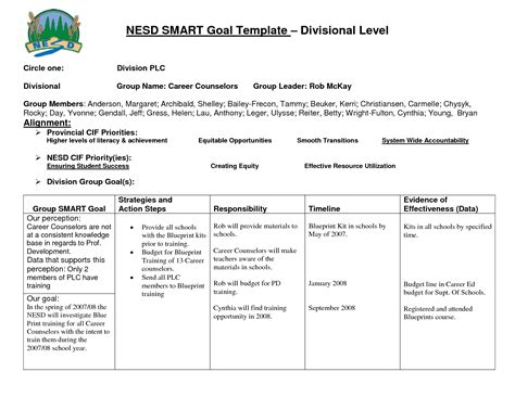 personal goals and objectives template best photos of smart goals excel template smart goals