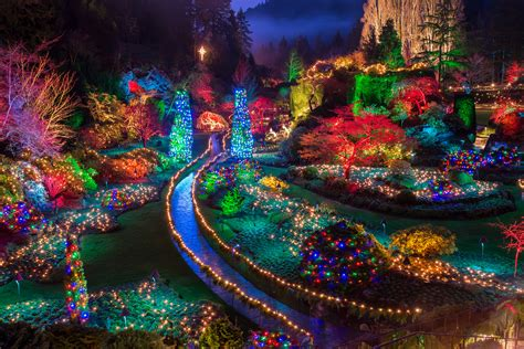 butchart gardens urban park in victoria thousand wonders