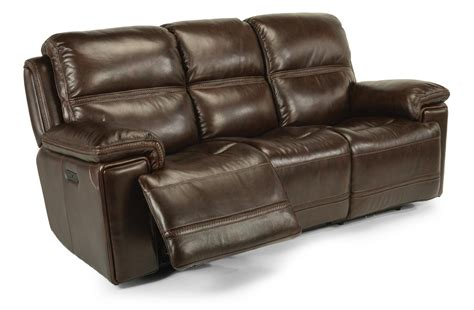 Flexsteel Latitudes Reclining Sofa Flexsteel Latitudes Fenwick 1659 62ph 204 70 Leather Power