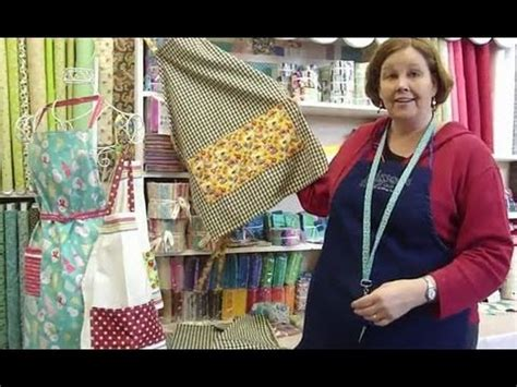 youtube apron pattern make an apron using tea towels part 1 of 2 youtube