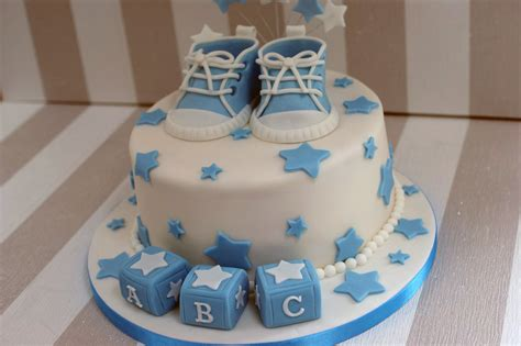 Where To Get A Baby Shower Cake by Boy S Baby Shower Cake With Cupcakes Bakealous