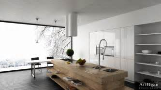 wood block kitchen island interior design ideas