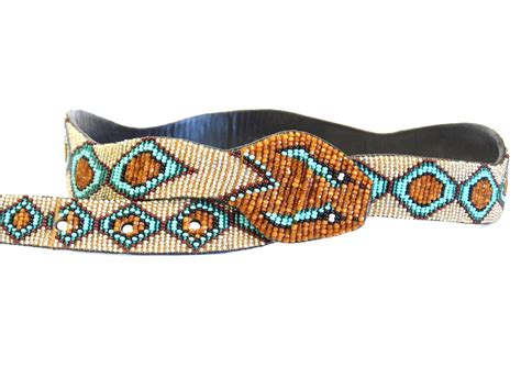 beaded belts for sale 1990s beaded diamondback rattlesnake belt for sale at 1stdibs