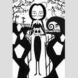 Wednesday Addams Drawing   600 x 900 jpeg 146kB