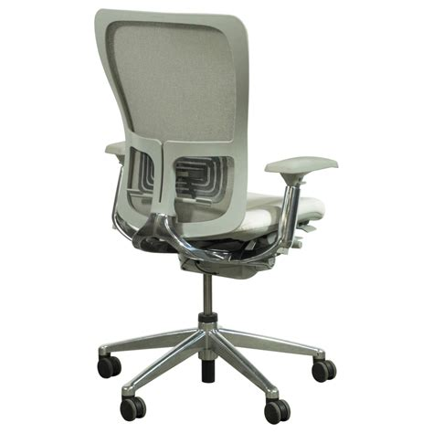 Zody Task Chair by Haworth Zody Mesh Back Used Leather Task Chair White And