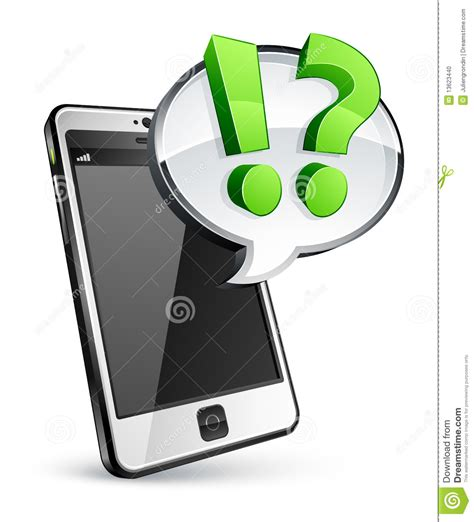 Or Question On Phone Cell Phone With Speech Stock Photo Image 13623440