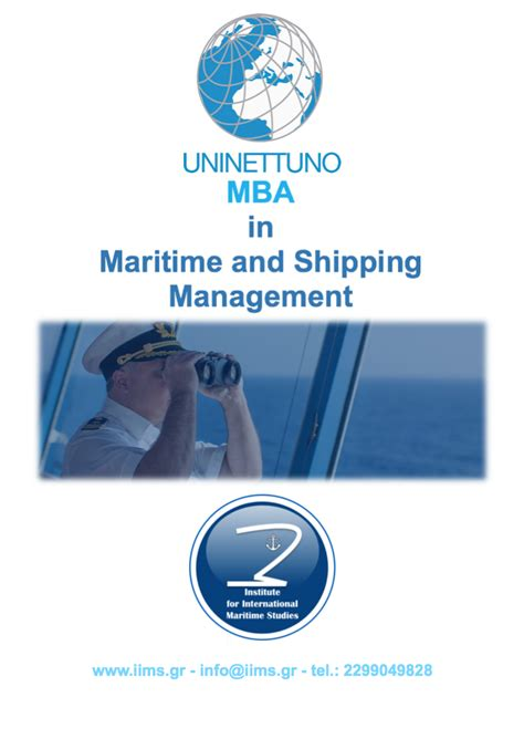 Maritime Mba Usa by Mba In Maritime And Shipping Management E Learning Portal
