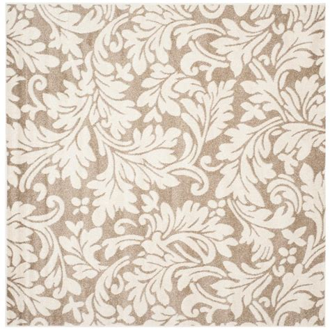 9 x 9 outdoor rug safavieh amherst wheat beige 9 ft x 9 ft indoor outdoor square area rug amt425s 9sq the home