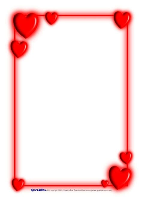 Valentines Card Landscape Templates Free by S Day Teaching Resources Printables For