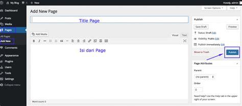 membuat page wordpress pengenalan dasar wordpress 1 apa itu pages posts