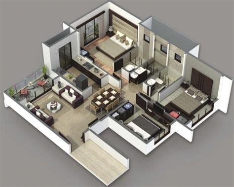 simple 3d house design 3 bedroom simple house plans 3d house floor plans