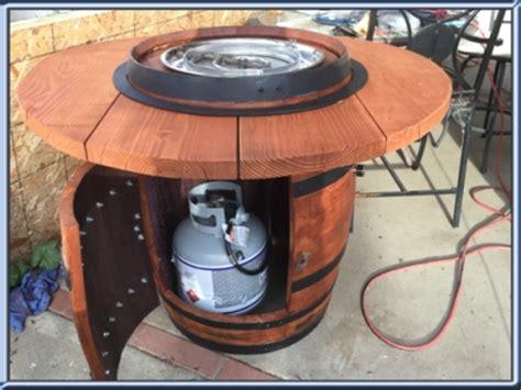 build your own propane pit table gene underwood wine barrel pit