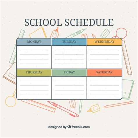 calendar supplies calendar with school supplies background vector free