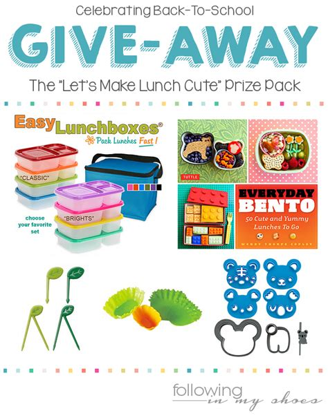 Cute Giveaways - let s make lunch cute giveaway