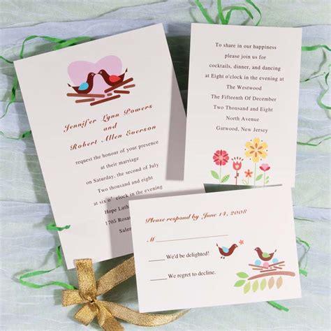 wedding invitations with hearts modern birds with printable wedding invitations