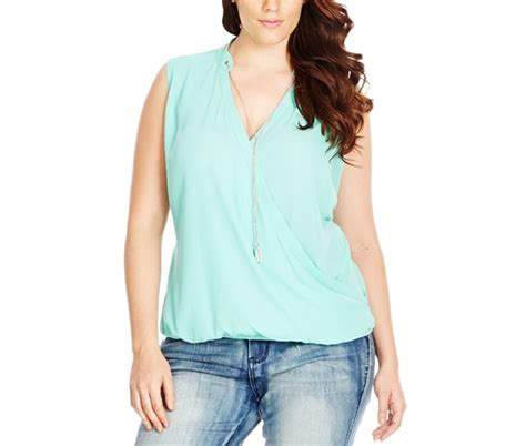 Atasan Blouse Chic Plus Necklace Y plus size ideas for a date find them at macy s