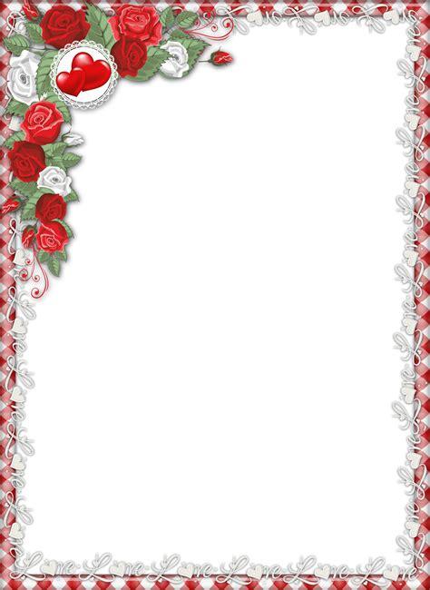 design frame love red love png transparent frame with roses photo frames