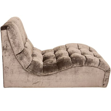 tufted velvet chaise mid century tufted velvet chaise longue at 1stdibs