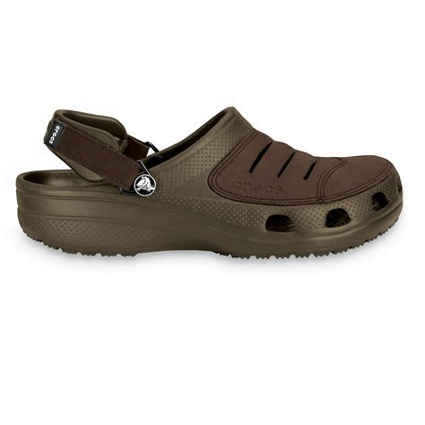 Crocs Yukon crocs yukon shoe chocolate a leather topped croslite clog