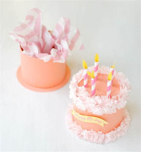 How To Make A Paper Cake - paper birthday cake box