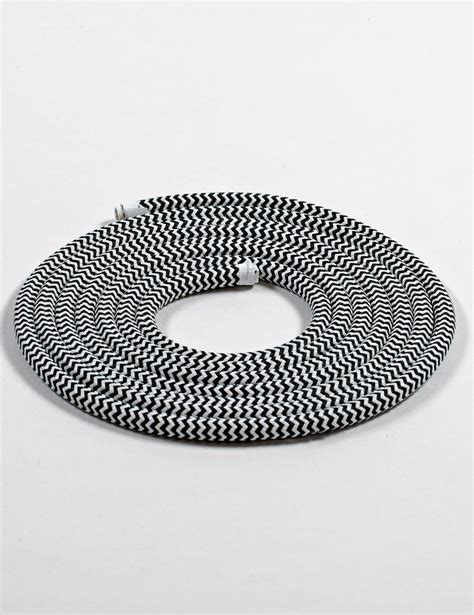 fabric cable black and white plumen uk