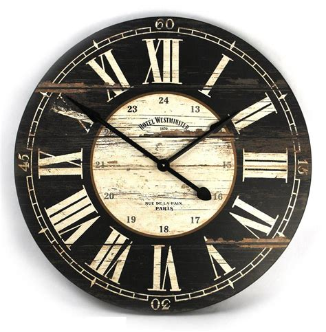 rustic clock hotel westminster rustic cottage black white large wall