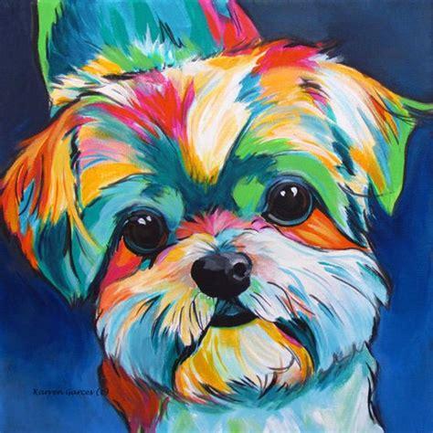 animal painting free shih tzu shih tzu gifts