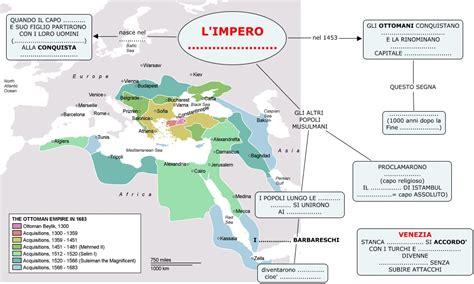 impero ottomano cartina storia impero turco ottomano muta