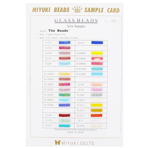 colori tavola tavola colori miyuki tila bead nuovi colori 2011