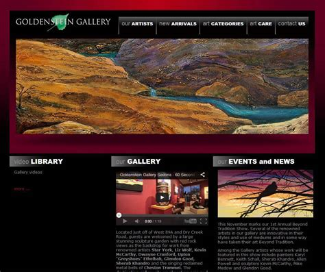 Art Gallery Website Templates Masterpiece Manager Gallery Website Templates