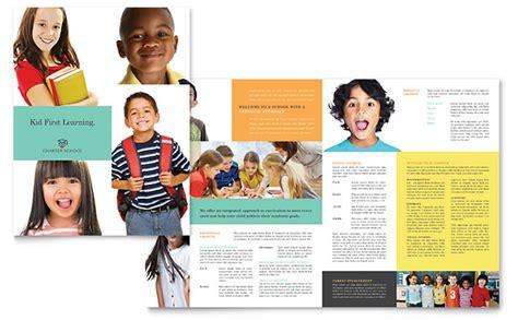charter school template charter school brochure template design