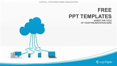 Blog Single Author Big Cloud Template For Powerpoint