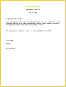 Authorization Letter For Personal Representative Example 10 Best Authorization Letter Samples And Formats