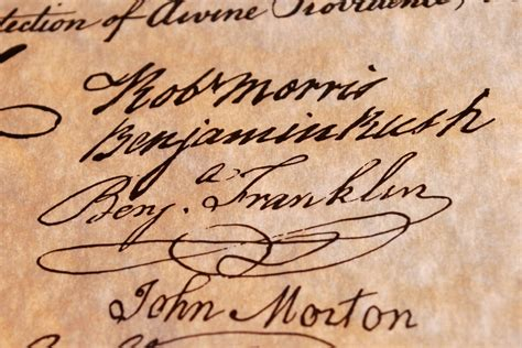 benjamin franklin signature declaration of independence where do last names come from wonderopolis