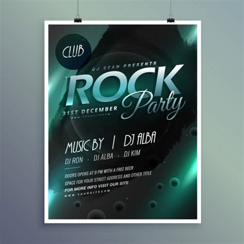 party flyer design kostenlos club rock party musik flyer vorlage download der