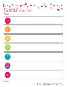 organizational printables meal plan amp grocery list dawn
