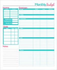 budget template best photos of free printable monthly budget template