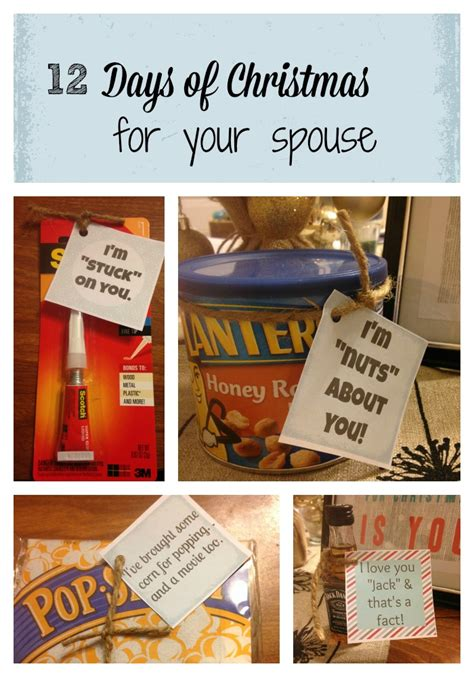 12 days of christmas gifts for boyfriend 12 days of for your spouse frugal finds during naptime