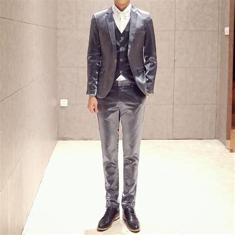 Flat Salem List Silver New Arival mens shiny silver suit 2015 new arrival luxury coat