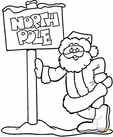 santa s view coloring book for everyone books pole coloring page free printable coloring pages