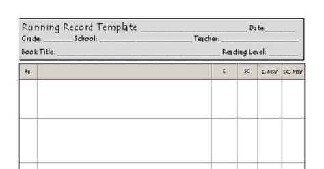 f p running record template l z pdf google drive