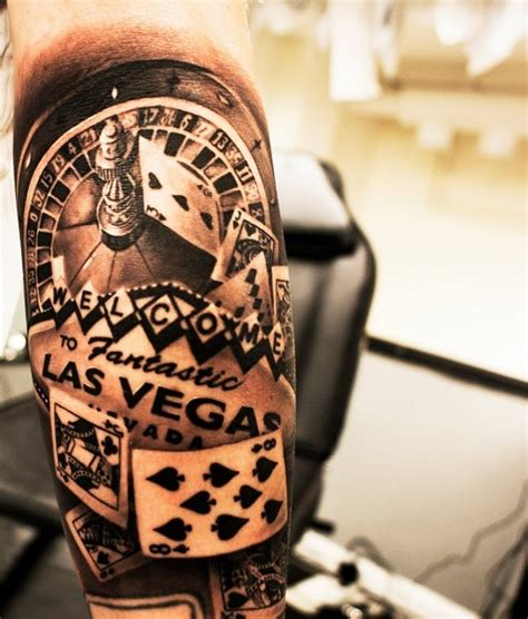 las vegas gambling tattoo chris tattoo stuff pinterest
