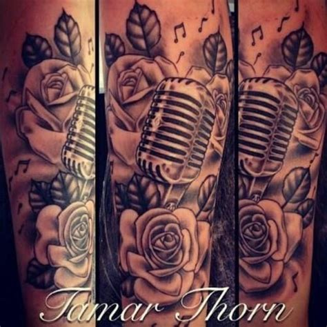 music notes with roses tattoo sleeve search tattoos