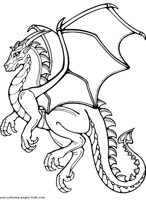 Dragon Color Page Coloring Pages For Kids Fantasy Midevil Dragons Coloring Pages