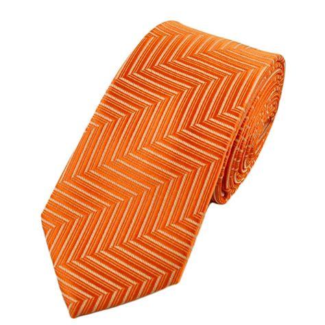 Orange Patterned Ties   orange patterned skinny tie from ties planet uk