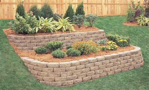 Garden Block Wall Ideas Brilliant Retaining Wall Garden How To Build A Garden Wall Allan Block Retaining Walls Retaining
